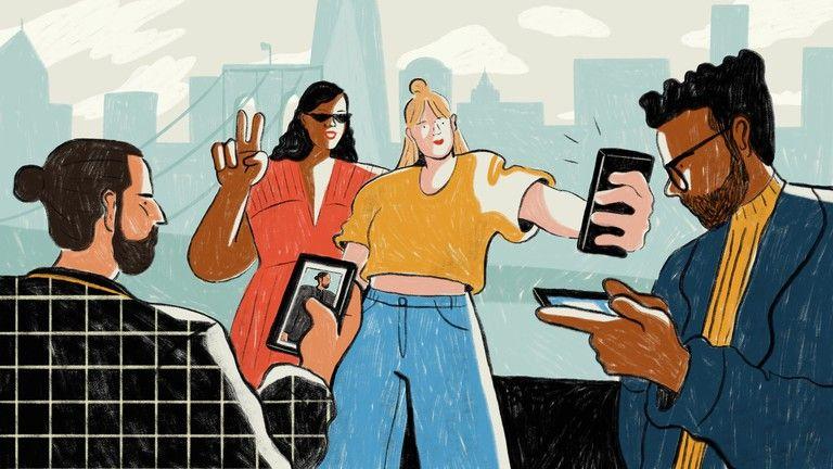 Блогеры иллюстрация
