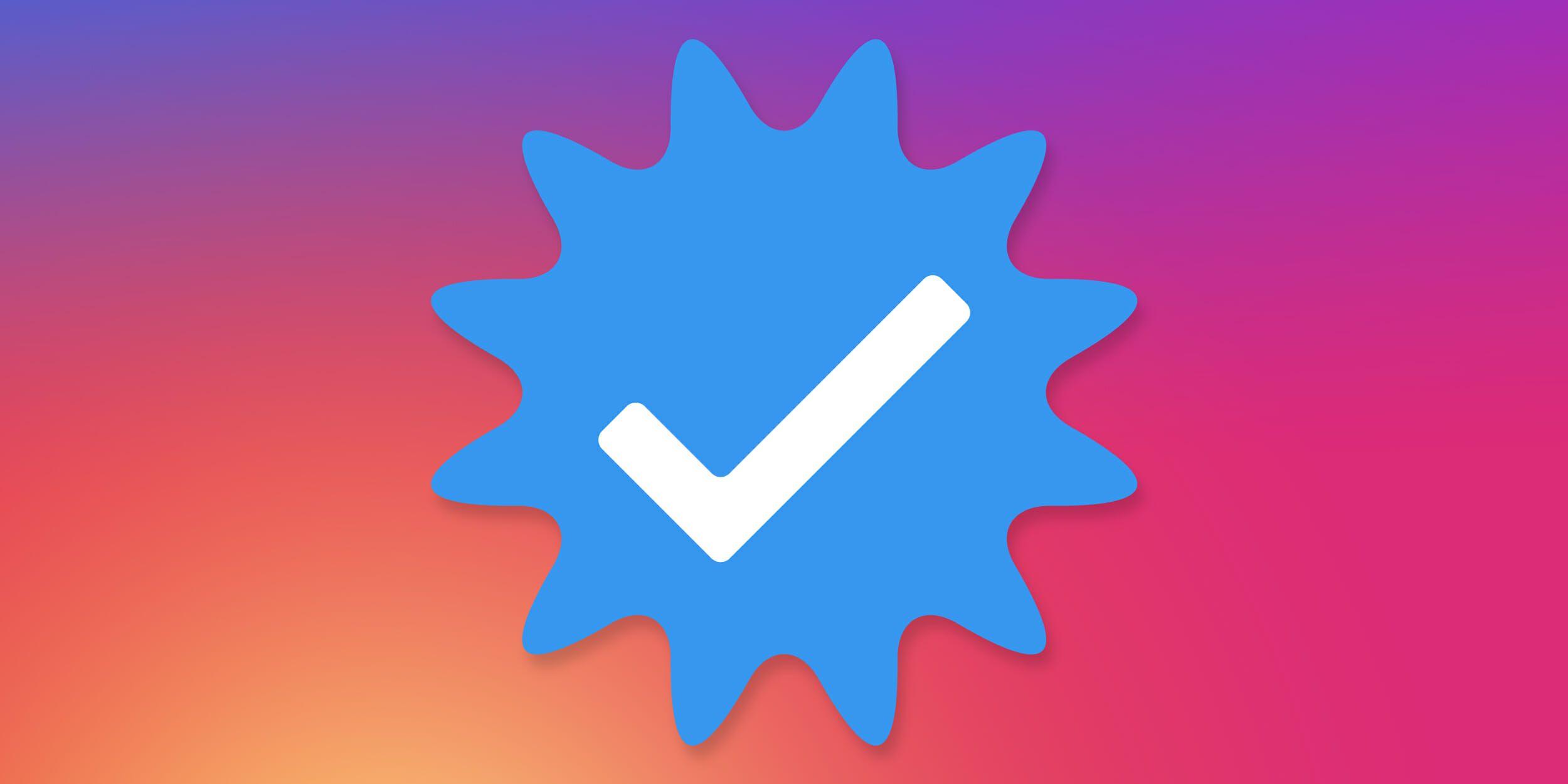 Синяя галочка в Инстаграм